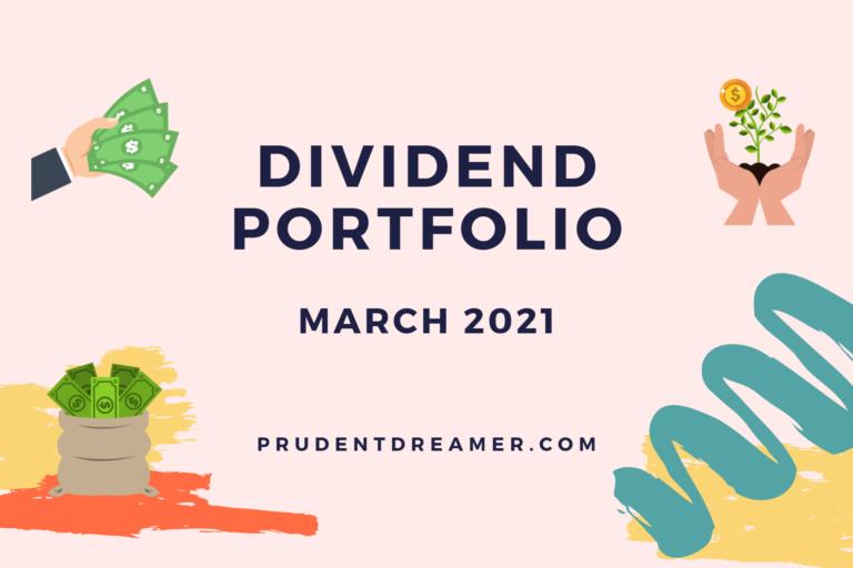 Singapore Dividend Portfolio Update – March 2021