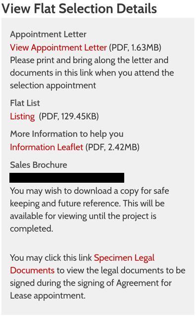 BTO unit selection - 2. flat selection details
