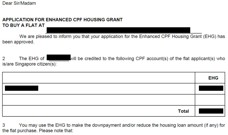 EHG Approval in approval letter